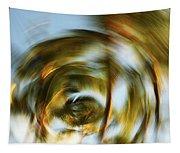 Circular Palm Blur Tapestry