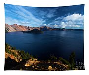 Crater Lake Blues Tapestry