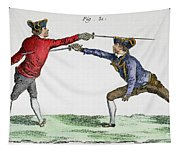 Fencing, 18th Century Tapestry