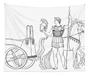 Greek Chariot Tapestry