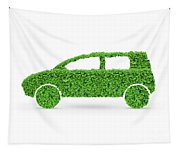 Green Car Tapestry