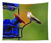 Hummer At The Feeder Tapestry