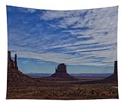 Morning Clouds Over Monument Valley Tapestry