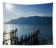 Pier In Backlight Tapestry