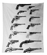 Pistols And Revolvers Tapestry