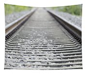 Railroad Tracks Tapestry