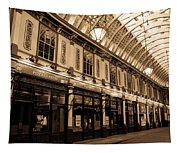 Sepia Toned Image Of Leadenhall Market London Tapestry