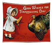 Thanksgiving Card, 1900 Tapestry