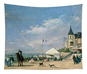 The Beach At Trouville Tapestry