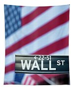 Wall Street Flag Tapestry