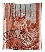 25 Lire Italian Stamp - Milano Cancelled Tapestry