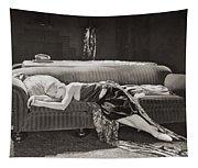 Silent Film Still: Woman Tapestry