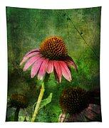 3 Amigos Echinacea Coneflower Grunge Art Tapestry