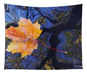 Autumn Leaf On The Water Tapestry