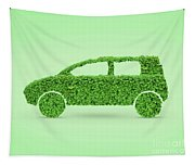 Green Car Tapestry