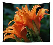 Orange Daylily Tapestry