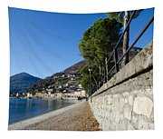 Village On The Lake Front Tapestry