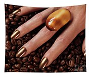 Woman Hands In Coffee Beans Tapestry