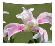 Double Oriental Lily Named Magic Star Tapestry