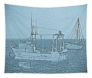 Fishing Boats Art Tapestry