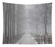 Foggy Road Tapestry