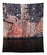 Painted Rocks At Hossa With Stone Age Paintings Tapestry