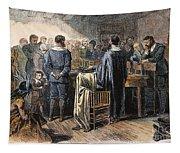 Pilgrims: Thanksgiving, 1621 Tapestry