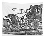 Stagecoach, 19th Century Tapestry