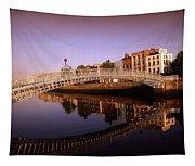 Hapenny Bridge, River Liffey, Dublin Tapestry