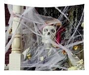 Fall  Halloween On Tillson Street Tapestry