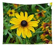 A Beautiful Close Up Of A Sunflower Tapestry