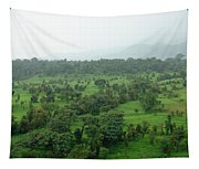 A Beautiful Green Countryside Tapestry