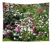 A Bed Of Beautiful Different Color Flowers Tapestry