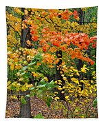 A Blustery Autumn Day Tapestry