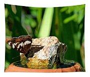 A Butterfly Enjoys A Drink Tapestry