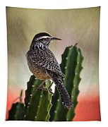A Cactus Wren  Tapestry