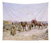 A Caravan Near Biskra Tapestry
