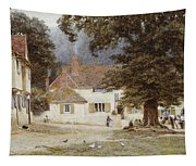 A Cart By A Village Inn Tapestry