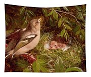 A Chaffinch At Its Nest Tapestry