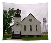 A Church In Water Tower Town Tapestry