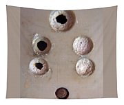 A Clogged Up 5 Point Electric Plug Point Tapestry