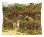 A Cottage At Freshwater Isle Of Wight Tapestry