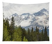 A Forest And The Rocky Mountains Tapestry