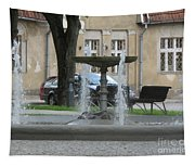 A Fountain In Silute Lithuania Tapestry