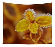 A Frosted Plant Tapestry