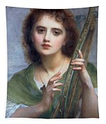 A Lady With Lyre Tapestry