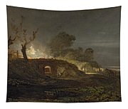 A Lime Kiln At Coalbrookdale Tapestry
