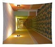 A Long Hallway Flipped Sideways Tapestry