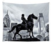 A Man A Horse And A City Tapestry