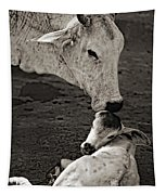 A Mother's Love Monochrome Tapestry